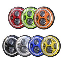 """Высокое качество передней за круглым столом 7"""" 45W-дюймовый Halo Angel проектор индикатор/дальнего света фар для Jeep Jk с DRL светодиодные лампы автомобиля"""