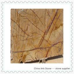 Тропический лес золотисто-коричневого цвета и зеленого мрамора слоя для Tile (строительный материал)