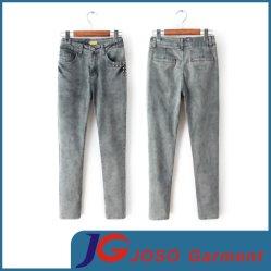Señoras la moda Jean vestir pantalones de mezclilla (JC1327)