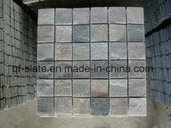 China P014 Gold-Pink azulejos de mosaico de pizarra para Planta/suelo o pared