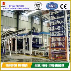 Bloc de ciment de pavage façonner en blocs de ciment de la machine la ligne de production de la machine