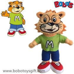 O brinquedo macio do tigre personalizado é o presente da promoção