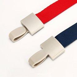 Mayorista de fábrica cordón distintivo de trabajo de la tarjeta de trabajo el cordón de nylon hebilla de goma de una variedad de Cordón de la etiqueta