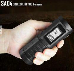 SA04 Ecrã táctil LCD multifuncional lanterna