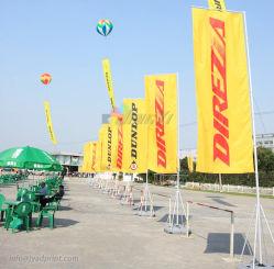 Пользовательские высокого качества на открытом воздухе прямоугольник реклама флаг баннер с полюса