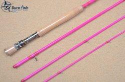 Livraison gratuite de couleur rose de gros aaaa Poignée en liège La tige de pêche à la mouche