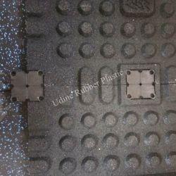 1 м x 1 м x 25мм резиновые спортзал с пола Пластмассовые крепления
