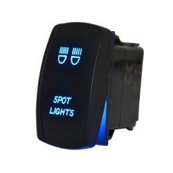 Interrupteur à bascule de laser bleu rétroéclairé 20A 12V Voyant marche/arrêt