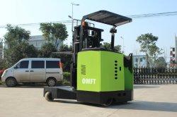 1.5t 2t 6m 7m camion elettrico a pile di estensione dell'alto elevatore di 4 modi per legname
