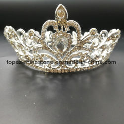 2018 de Aangepaste Bruids Kroon van het Kind van de Tiara's van het Bergkristal van het Huwelijk van de Kroon van het Kristal (BC01)