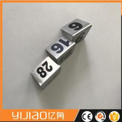 二重印表番号ホールダーのステンレス鋼の陳列台