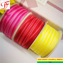 Factory/Fabricante de tejido color tafetán arco irisdoble cinta/solo rostro - Cuadros satén Organza cinta Grosgrain pura de cáñamo con alta calidad