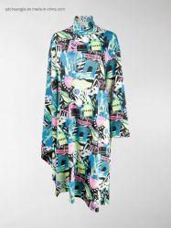 Señoras Womens Visouse Modal Algodón Super Soft Vintage Floral Tropical Playa cuello alto la impresión de revistas de estilo folk vestido tubo de secado rápido