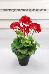 PE Geranium Pot искусственные цветы для дома (45071)