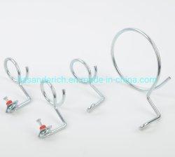 Unc de 1/4-20 x 4 pulgadas Quick-Screw Bridas de acero de anillo de zinc para la instalación eléctrica y Datacom y las aplicaciones de telecomunicaciones
