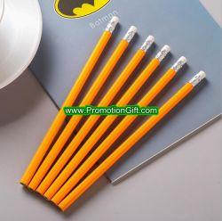 Рекламных подарков Custom круглой древесины Eraser отель карандаш