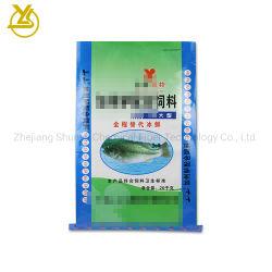 Personalizar la bolsa de piensos para peces de la bolsa de embalaje de alimentos, bolsas de polipropileno tejido laminado