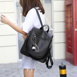 Mochila de moda de couro feminina Mini Anti Roubo de volta Pack Saco de ombro
