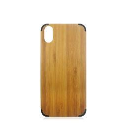 PC de bois du couvercle du carter de Téléphone pour iPhone x