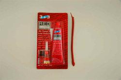 High-Temp 3+3 Red Color RTV Silicone Gasket Maker 85g مع صمغ Super Sugg
