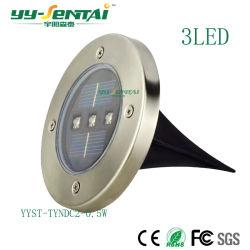 Lampe solaire extérieur pelouse Insérer Lampadaire Jardin lampe étanche 3 LED Lampe enfouis