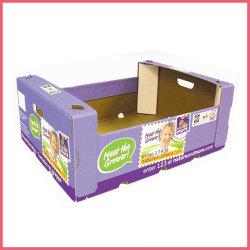 Kundenspezifischer gewölbter/Karton-Farben-Drucken-Obst- und GemüseKarton-Kasten