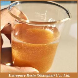 001*7 Grau Alimentício Estireno Gel Série ácido forte Resin-Cation Resina permutadora de iões