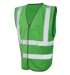 Kalk Weerspiegelende van het Vest van de Kleur van de Polyester van 100% de Enige (niet ISO 20471)
