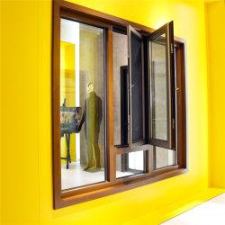 Het houten Openslaand raam van de Legering van het Aluminium van het Glas van de Kleur Dubbel Aangemaakte Geluiddichte