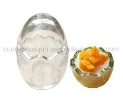 OEM 100ml vidrio libre de Pb Forma de Huevo Flan de gelatina Cup