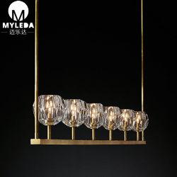 Sala de estar moderna europeia Lâmpada Pendente de vidro