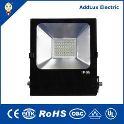 IP65 Marcação CB SASO UL 10W 20W 30W 50W rectângulo LED Industrial o Holofote Distribuidor exportador fabricados na China para a piscina, rua, Jardim, Estacionamento, Iluminação Exterior