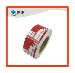 Hochklebende Rote Papieraufkleber/Kundenspezifisches Drucketikett