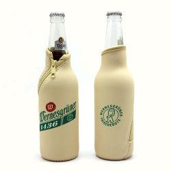 Impressão por sublimação em neoprene personalizado do refrigerador de garrafas de cerveja a Luva Saco com fecho de correr