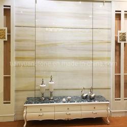 Weißes Marmoglass/Nano kristallisiertes Glassteinpanel für Wand/Platte/Fliese/Countertop