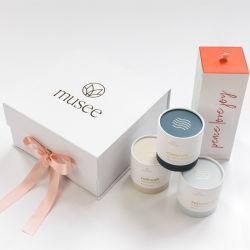 FSC 認証カスタムクリスマス印刷ロゴパッキングティー、帽子、化粧品、花の磁気折りたたみ式ボール紙ギフト包装箱