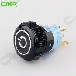 19мм Spdt 1 нет1nc питания с подсветкой RGB пластиковые кнопочный выключатель
