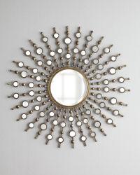 Redondo de metal decorativos de vidrio antiguo espejo de pared espejo HD Comentario