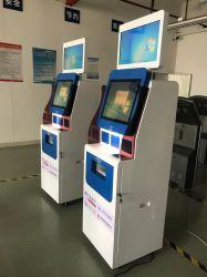 Krankenhaus-Doppelbildschirm-Zahlungs-Kiosk für geduldige Abfertigungs-Anfrage-Registrierung und Report-Drucken