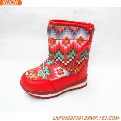 Печать алмазами снега ботинки и моды Style девочек Antislip зимние ботинки