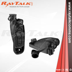 Radio de dos vías Walkie Talie accesorio adaptador de audio AP-04h for Motorola HT750 de 6 Pin Hirose