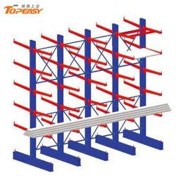 Rack in metallo per stoccaggio di legname con braccio a doppio lato per impieghi pesanti