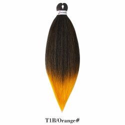 Estensione sintetica dei capelli della treccia della fibra dell'Africano/Brazilian/2in1-Color/Chemical