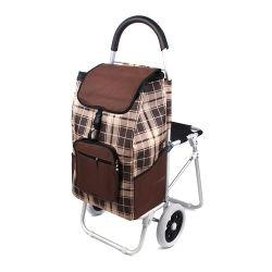 Carrito de compras la bolsa de aluminio con silla