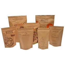 изготовленный на заказ<br/> прозрачный пластиковый OPP полимерной упаковки продуктов питания сумку с отверстием для подвески рекламных Craft бумажных мешков для пыли мире биоразлагаемую бутылку для кофе мешки пластиковой упаковки Bag