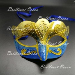 L'halloween Glitter Masquerade Mask pour Dance Party