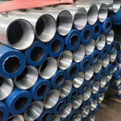 2 estremità filettata di Tyt di pollice di 1/2 del acciaio al carbonio del tubo del fornitore ASTM 75mm del tubo d'acciaio del acciaio al carbonio con la protezione ERW pre galvanizzata intorno al tubo di Gi