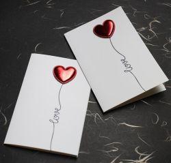 Biglietto di auguri per San Valentino per il compleanno di Muguang FDIY Leather Love 3D I Love Your Heart batting Card biglietto di auguri per il nuovo anno