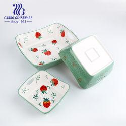 3PCS фарфора выпечки чаши с Hand-Painted цветочного дизайна Tz3-Tc23022zl-TH1