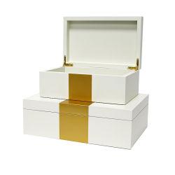 De luxe Houten Reeks van de Doos van de Vertoning van de Doos van de Gift van de Vernis van het Stoven van de Doos van Juwelen Houten